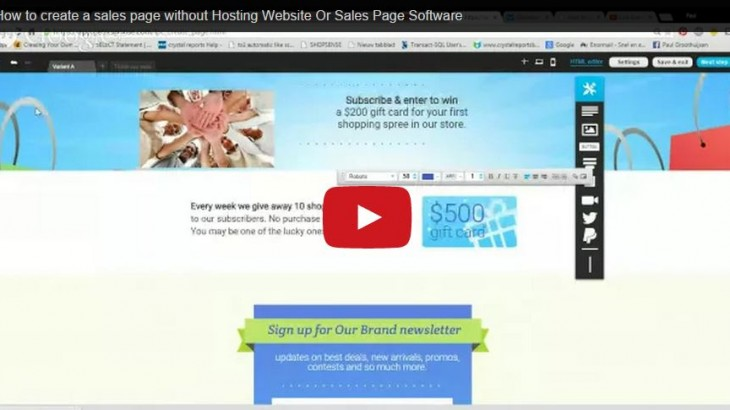 How to create a sales page without Hosting Website Or Sales Page Software